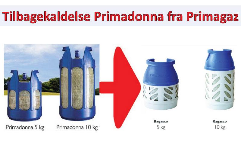 Tilbagekald Primagaz Compolite CS-flaskerne