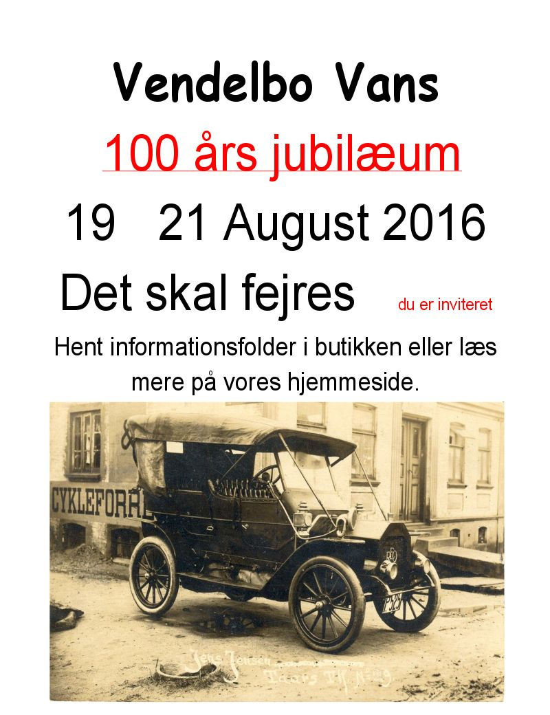 100 års jubilæum – Vendelbo Vans