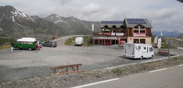 Traktørsted på Col du Galibier