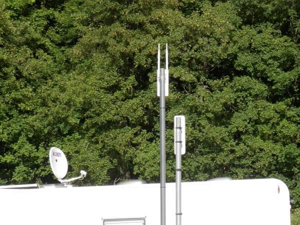 EZ Hotspot Extender leverer WIFI til camperpladsen i Les Verneys
