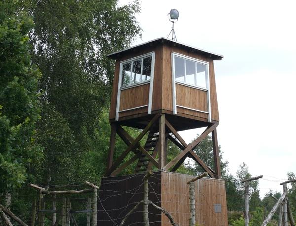 Vagttårn ved hegnet