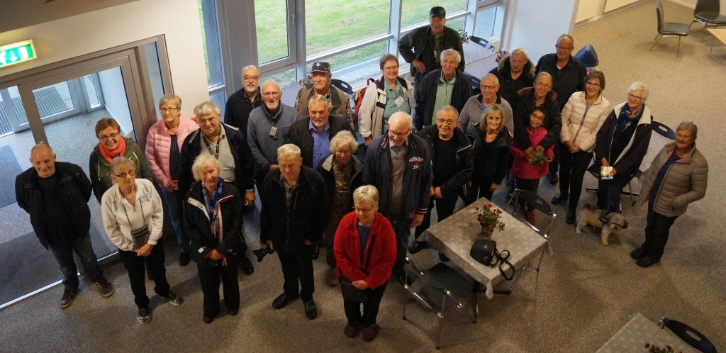 Gruppen er klar til rundvisning på museet.