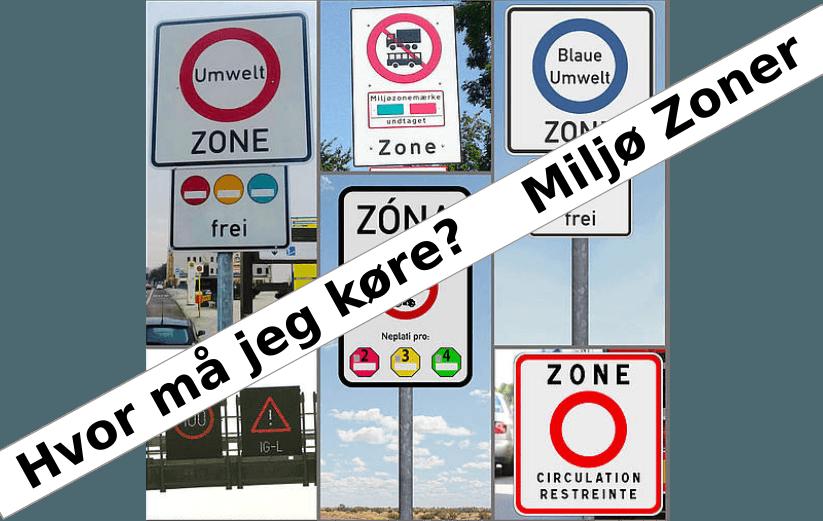 Hvor må jeg køre? Euro normer