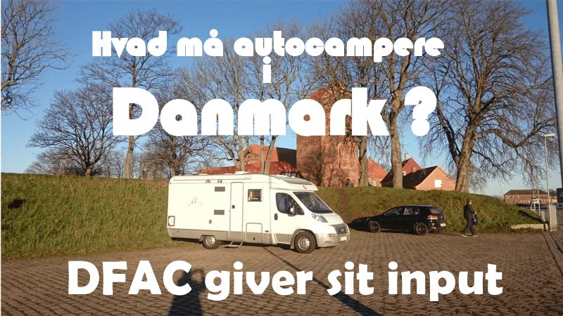 Hvad må Autocampere – DFAC giver sit input.