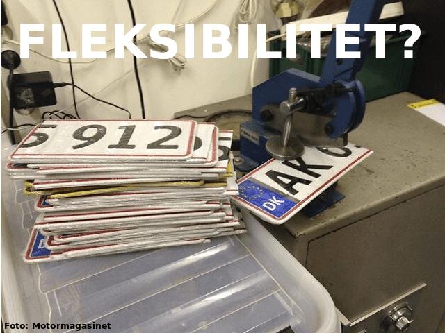 Fleksible nummerplader